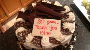 20 year cake for Stan