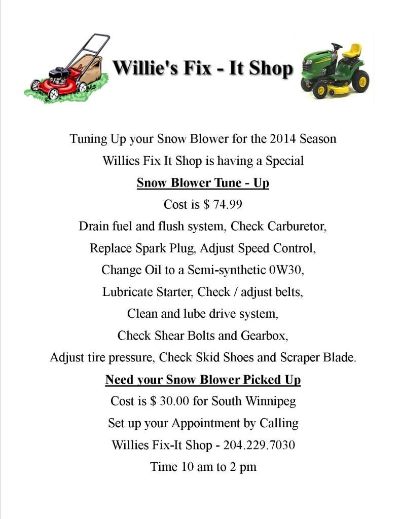 House Wiring Cost 2014 Snow Blower Tune Up